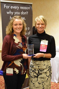 GCS SCHOOL PSYCHOLOGIST ALLISON STONE RECEIVES STATE AWARD