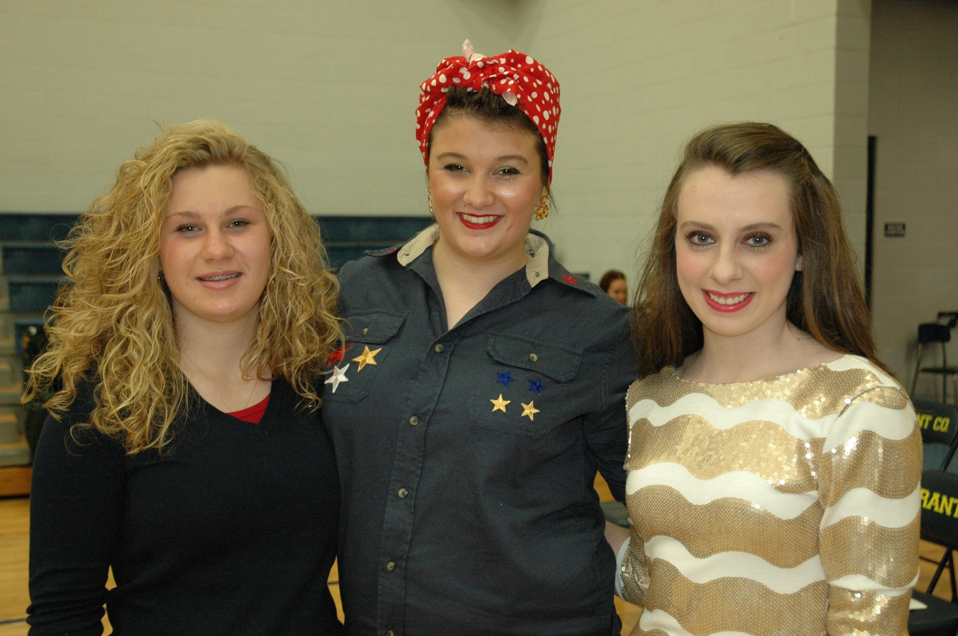 "2012 Emily Samuel, FCCLA Vice-President presented the history of ""Rosie, the Riveter"""