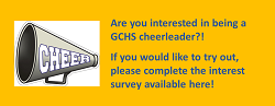 Megaphone with invitation to tryout for cheerleader