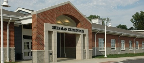 Front Entrance at Sherman Elementary